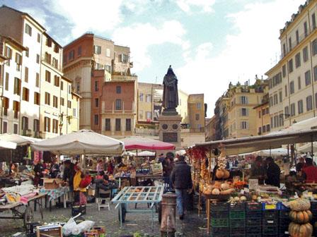 Markt auf dem Campo de Fiori - Rom